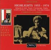 Christa Ludwig Singt Highlights, Live 1955-1974