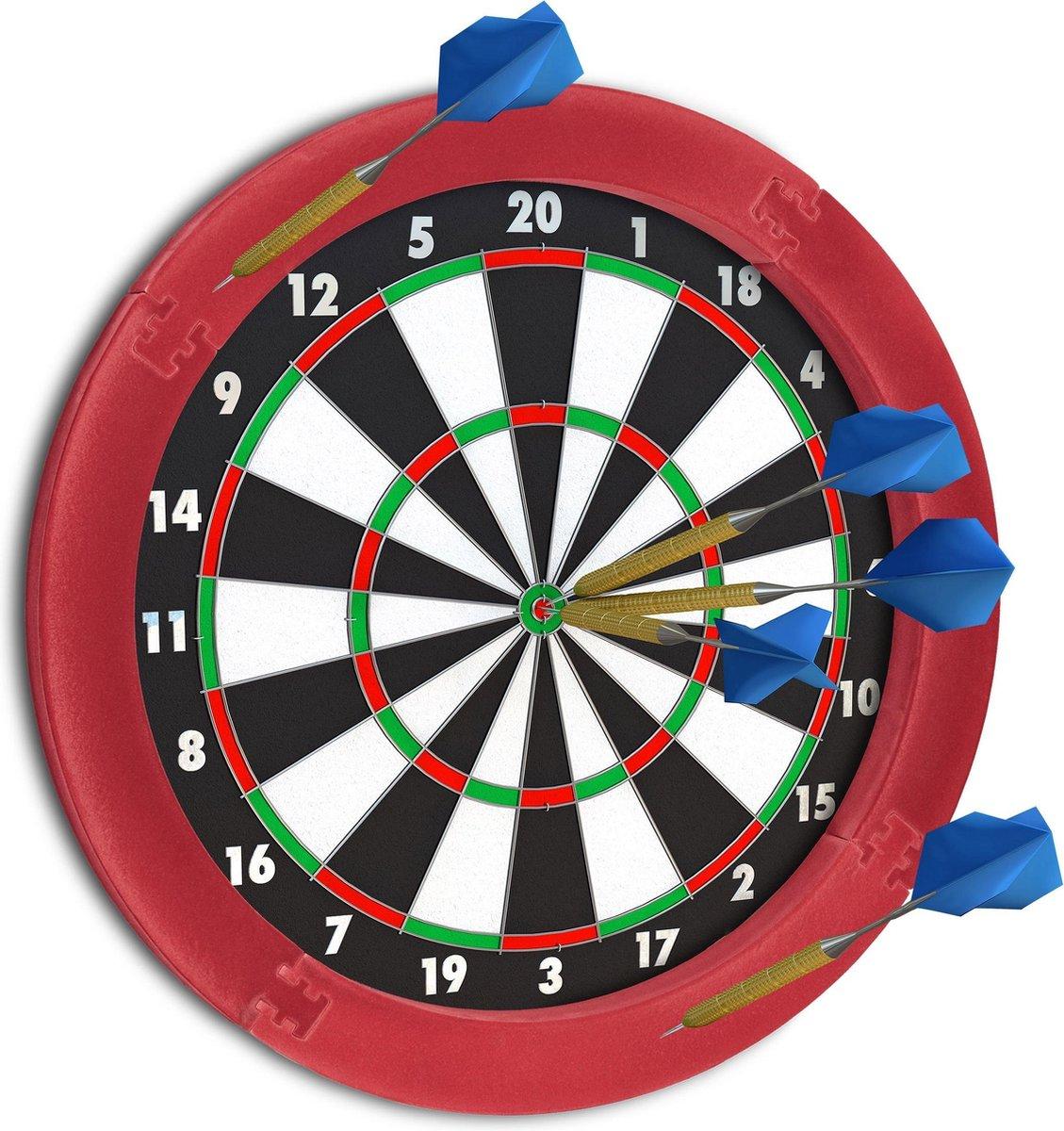relaxdays dartbord surround ring - beschermrand - beschermring - ring voor dartbord - rond