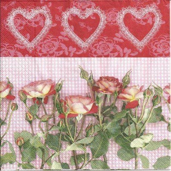 Vintage Papier Servetten - Rosas Amor - Decoupage - 20 stuks