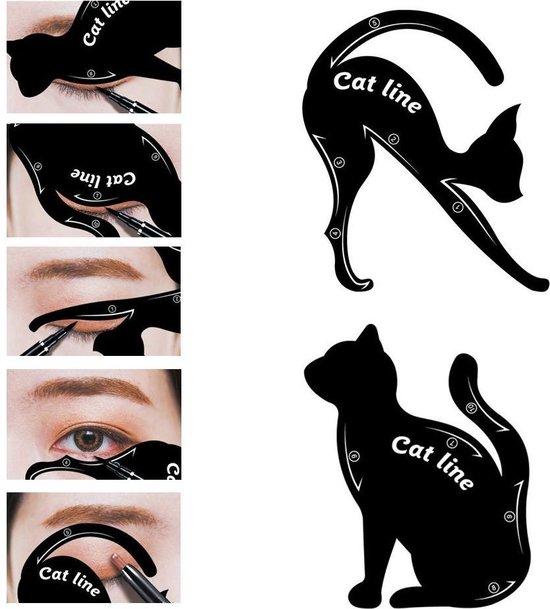 Cat Line Eyliner sjabloon - Katvormig - Zwart