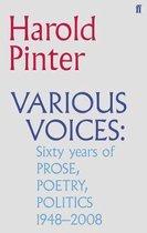 Boek cover Various Voices van Harold Pinter