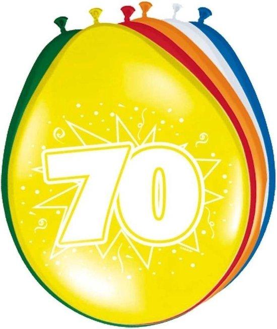 24x stuks Ballonnen versiering 70 jaar