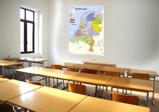 Nederland kaart poster - extra groot – 100x140cm –editie 2021 - Luxe - Multi - Wanddecoratie