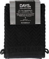Riverdale - Washandjes - Days - Zwart - Set van 4