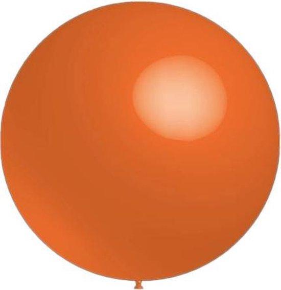 Mega grote ronde festivalballonnen oranje130 cm professionele kwaliteit