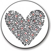 Eminent Keith Haring Mouse Pad Zwart, Rood, Wit
