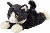 Magnetron warmte knuffel kat zwart 38 cm - Heatpack/coldpack - Warmteknuffel lavendel geur - Huisdieren katten knuffels - Dierenknuffels