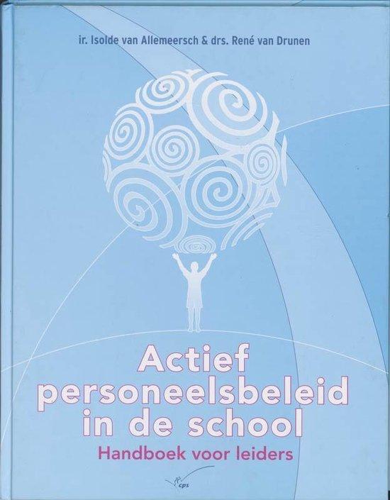 Boek cover Actief personeelsbeleid in de school van I. Van Allemeersch (Hardcover)