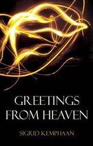 Boek cover Greetings from Heaven van Sigrid Kemphaan