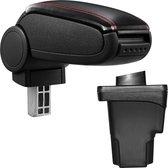 Armsteun-Seat Leon III-5F-2012-kunstleer-zwart+rood stiksel