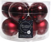10-delig glazen kerstballen set (bordeaux rood) 6cmø