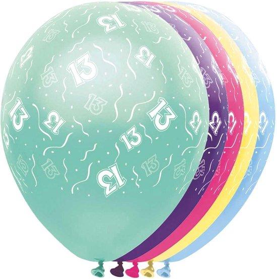 Ballonnen 13 jaar - ballon - 5 stuks