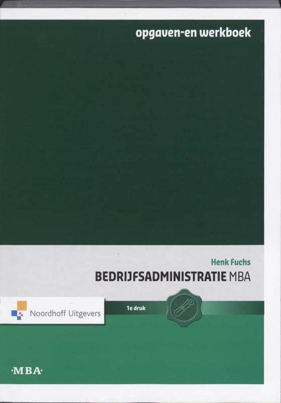 Bedrijfsadministratie MBA - Henk Fuchs | Fthsonline.com