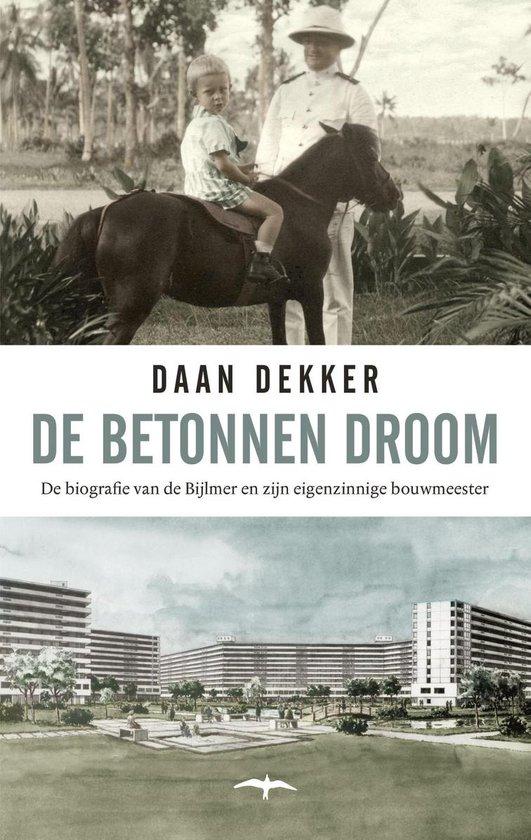 Boek cover De betonnen droom van Daan Dekker (Onbekend)