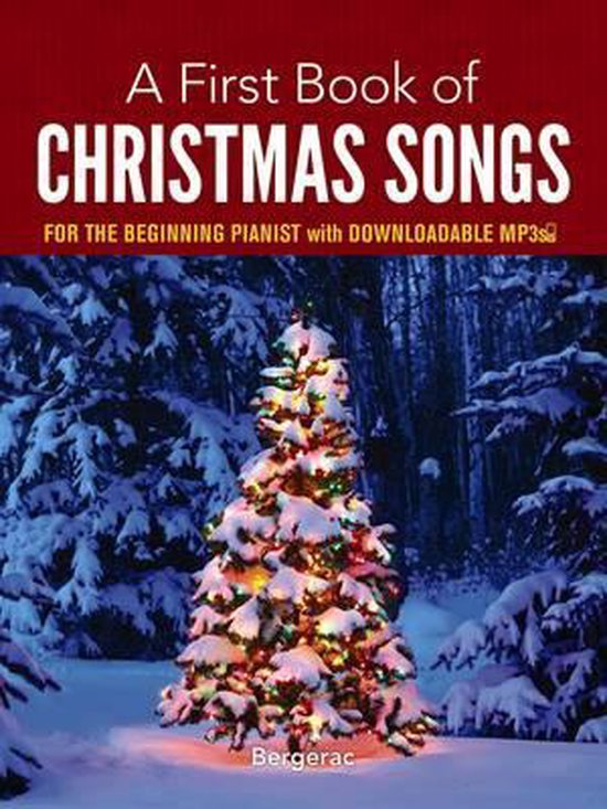 Boek cover A First Book of Christmas Songs for the Beginning Pianist van Bergerac (Paperback)