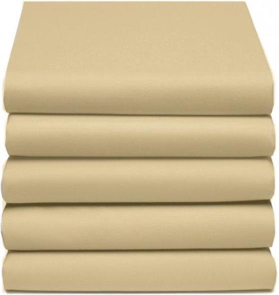 D'Orveige Hoeslaken Dubbel Jersey - Litsjumeaux XL - 190x210/220 cm - Zand