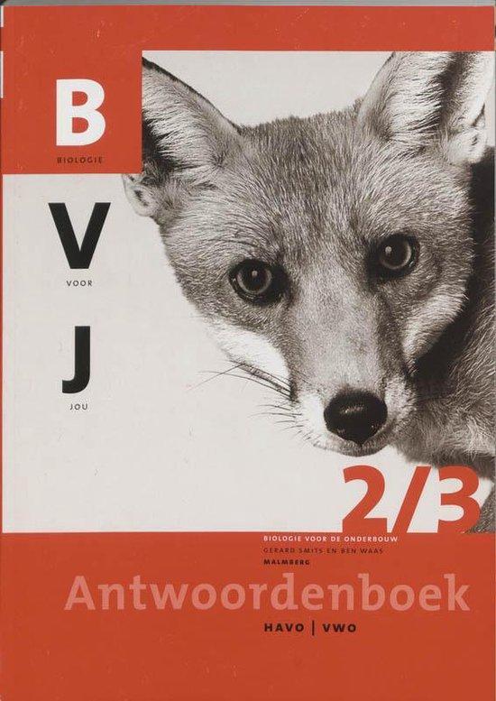 Biologie voor jou 2/3 Havo/vwo Antwoordenboek - B. Waas |