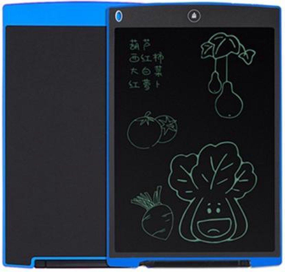 Elektronisch Magnetische Schrijfbord I Digitale Tekentablet - Drawing tablet - met LCD Scherm - 12 Inch - Zwart/Blauw