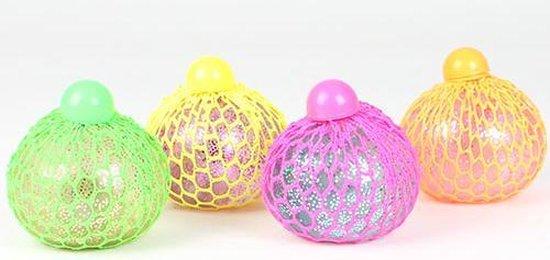 Thumbnail van een extra afbeelding van het spel Squishy Stress Ball Mesh LED Glitter
