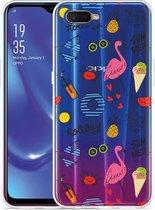 Oppo RX17 Neo Hoesje Summer Flamingo