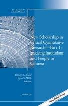 New Scholarship in Critical Quantitative Research, Part 1