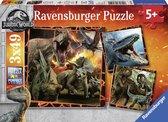 Ravensburger puzzel Jurassic World Fallen Kingdom - Drie puzzels - 49 stukjes - kinderpuzzel
