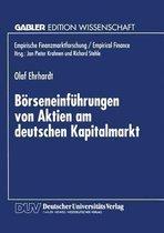 Boerseneinfuhrungen Von Aktien Am Deutschen Kapitalmarkt