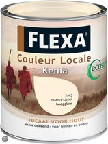 Flexa Couleur Locale Hoogglans Watergedragen Kenia 0.75 L 4545 Midden Camel