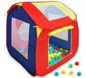 Speelhuis Ballenbak met 200 gekleurde ballen