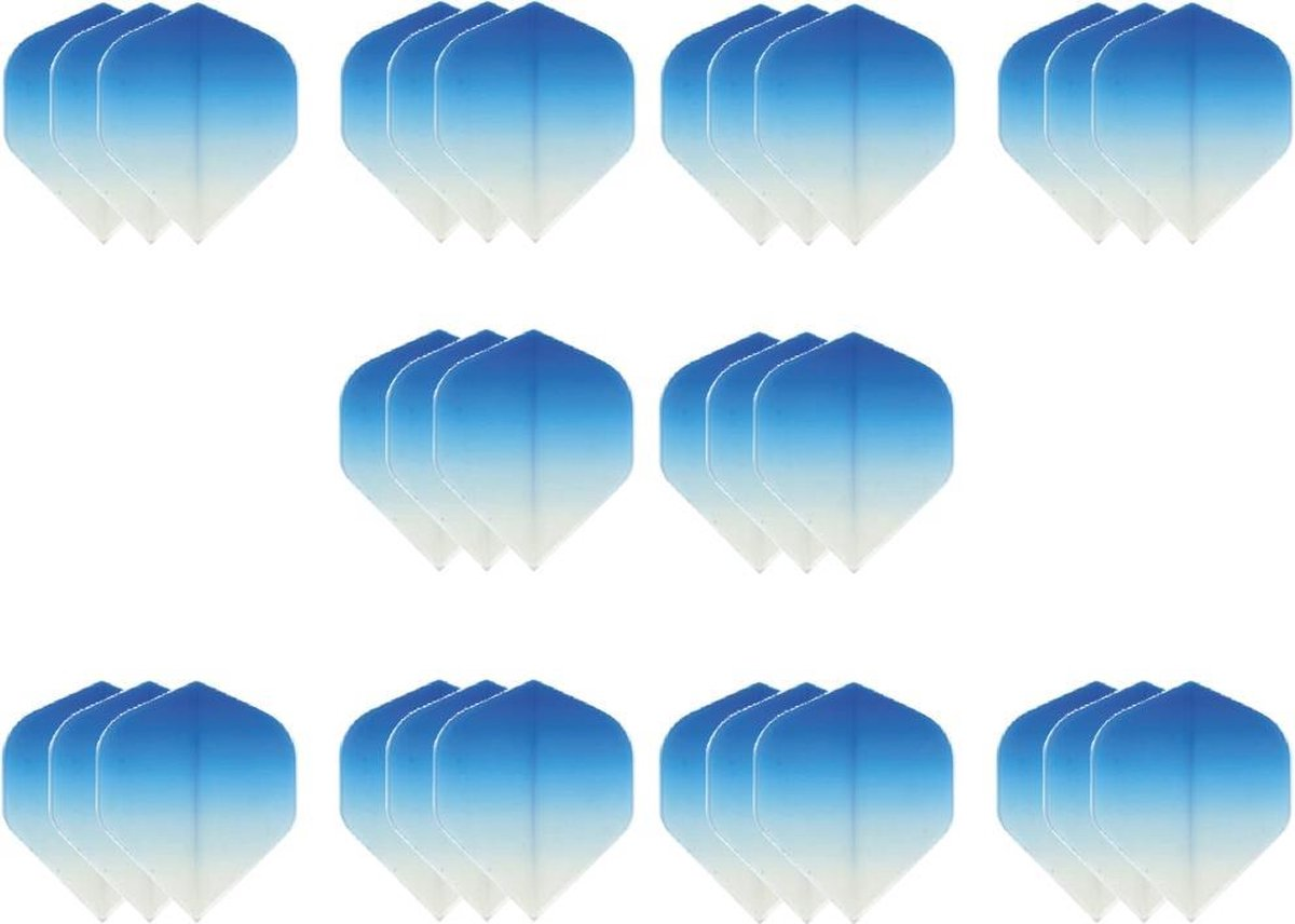 10 sets (30 stuks) Super Sterke - Dragon darts - Fade Top Blauw - darts flights