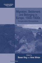 Boekomslag van 'Migration, Settlement and Belonging in Europe, 1500–1930s'