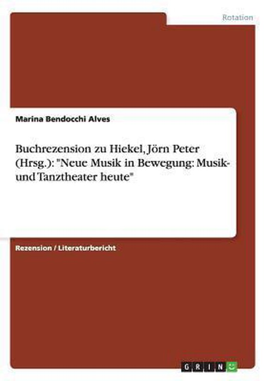 Buchrezension Zu Hiekel, Jorn Peter (Hrsg.)