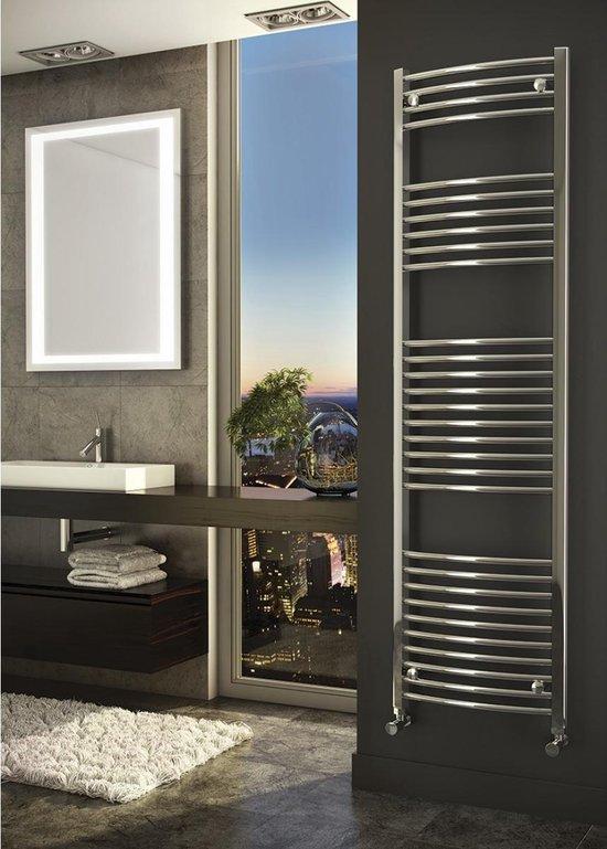 Sanifun handdoekradiator Medina Rondo 1800 x 300 Chroom