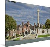 Oorlogsmonument in het Engelse Wirral Canvas 30x20 cm - klein - Foto print op Canvas schilderij (Wanddecoratie woonkamer / slaapkamer) / Europese steden Canvas Schilderijen