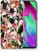 Samsung Galaxy A40 TPU Siliconen Hoesje Flowers