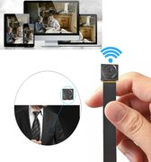 1080P HD Portable WiFi Spioncamera Mini Verborgen Pinhole 1.2MP Bewegingsdetectie voor Home Security Office Meeting Gratis APP