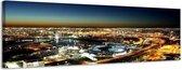 Melbourne - Canvas Schilderij Panorama 118 x 36 cm