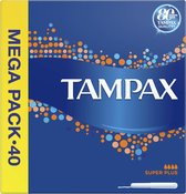 Tampax Super Plus Tampons - 40 Stuks - Met Inbrenghuls