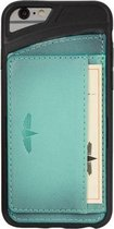 GALATA® Echte Lederen Slim-stand TPU back cover voor iPhone 6 PLUS / 6S PLUS gebrand turquoise