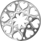 Silventi Lockits 982500666 Stalen munt - fantasie harten bloem - 33-1 mm - Zilverkleurig