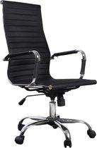 vidaXL - Bureaustoel Bureaustoel Business chroom zwart met hoge rugleuning
