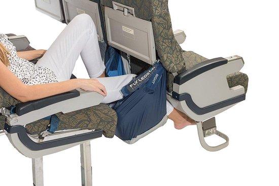 Vliegtuigbedje Voor Volwassenen - 2 Hoogtestanden - Reiskussen - Opblaasbaar - Grijs