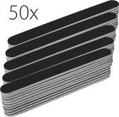 50x rechte nagel vijlen #100/180, zwart