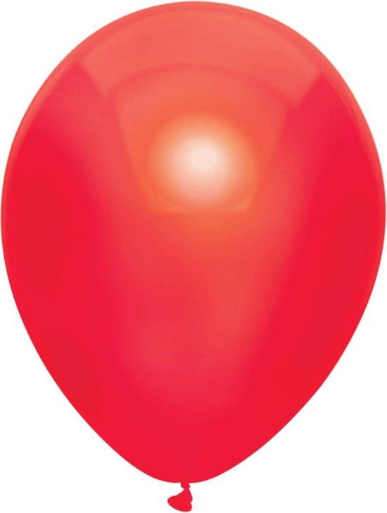 Haza Original Ballonnen Metallic Rood 10 Stuks