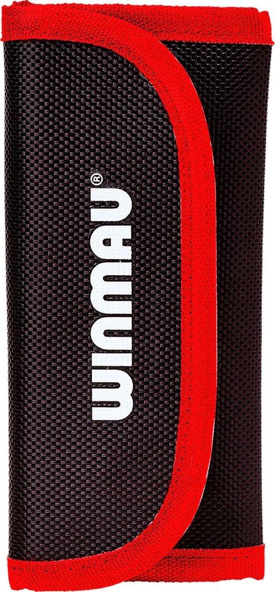 Winmau Tri-Fold Plus dart etui rood - 15,5 x 7,5 x 1,5cm