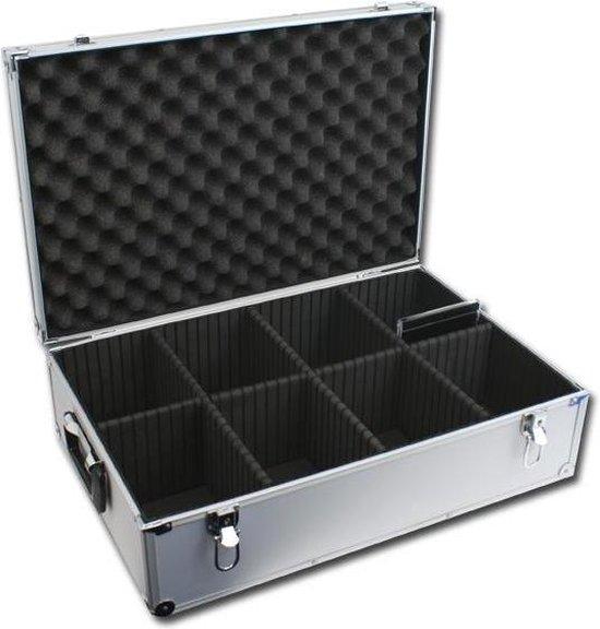 CD koffer - DJ case voor 140 CDs inclusief CD doosje (zilver). - VDD