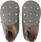 Bobux babyslofjes grey white plus white trims loafer - maat 18