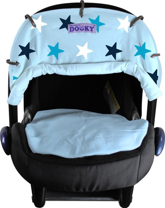 Dooky Universal Cover Zonnescherm kinderwagen - Baby Blue / Blue Stars