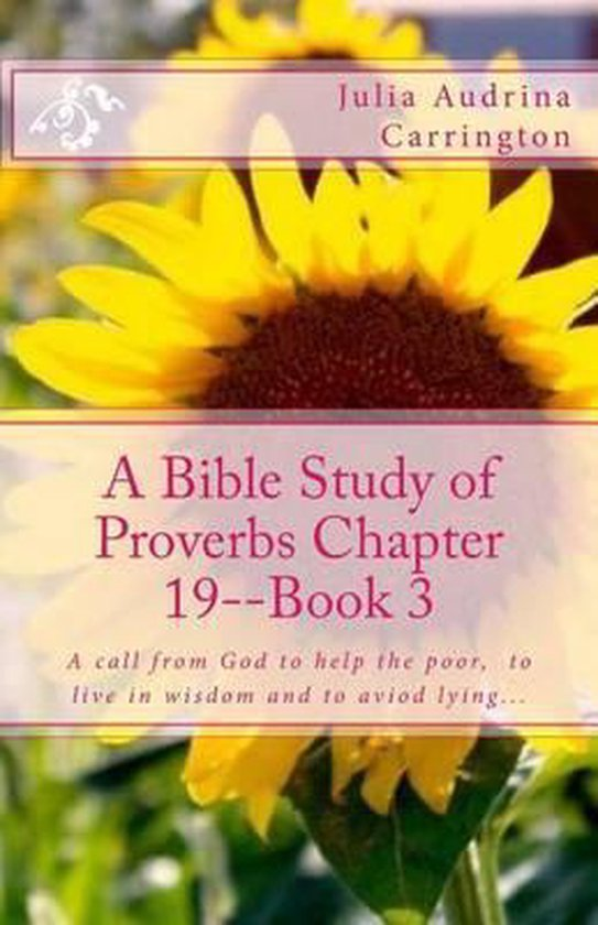 Boek cover A Bible Study of Proverbs Chapter 19--Book 3 van Julia Audrina Carrington (Paperback)