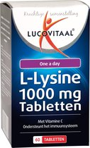 Lucovitaal L-Lysine 1000 milligram One a Day Voedingssupplement - 60 tabletten